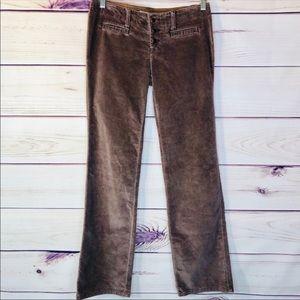 Free People Low Rise Crushed Velvet Jean Pants